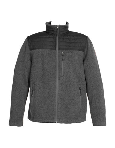 Free Country Knit and Quilted Jacket-GREY-Small