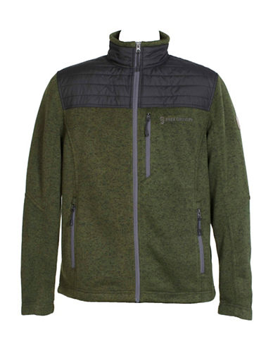 Free Country Knit and Quilted Jacket-GREEN-Small