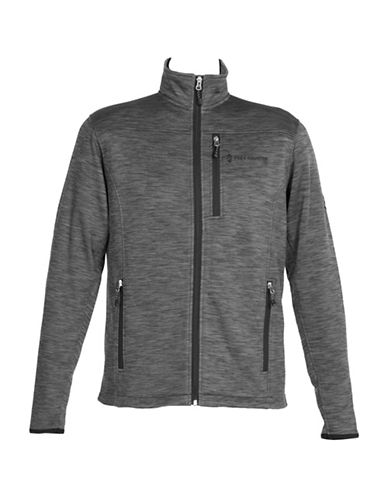 Free Country Midweight Fleece Jacket-GREY-Small