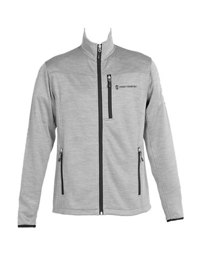 Free Country Midweight Fleece Jacket-LIGHT GREY-Large