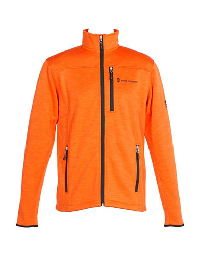 Free Country Midweight Fleece Jacket-ORANGE-Small