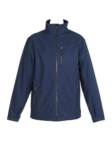 Free Country Midweight Soft Shell Jacket-BLUE-X-Large