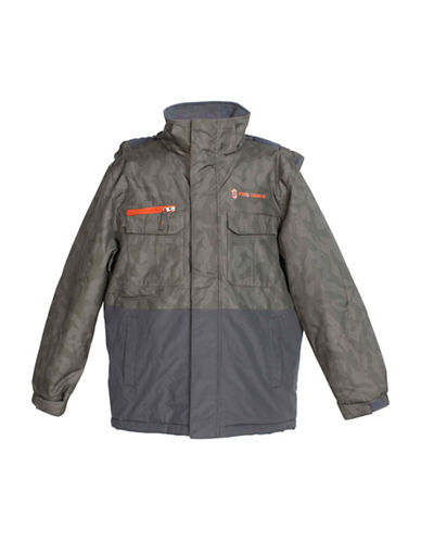 Free Country Boarder Jacket-GREY-Medium