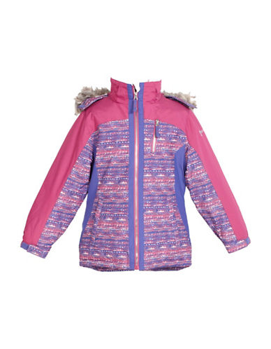 Free Country Faux Fur-Trimmed Boarder Jacket-PINK-Small