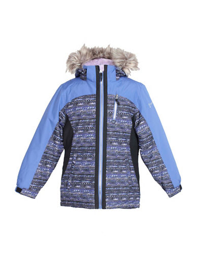 Free Country Faux Fur-Trimmed Boarder Jacket-BLUE-X-Large