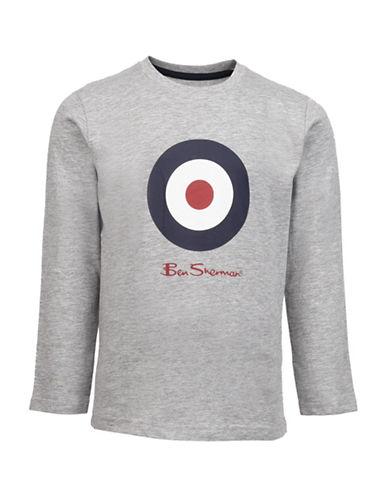 Ben Sherman Target Long Sleeve T-Shirt-GREY-10-11