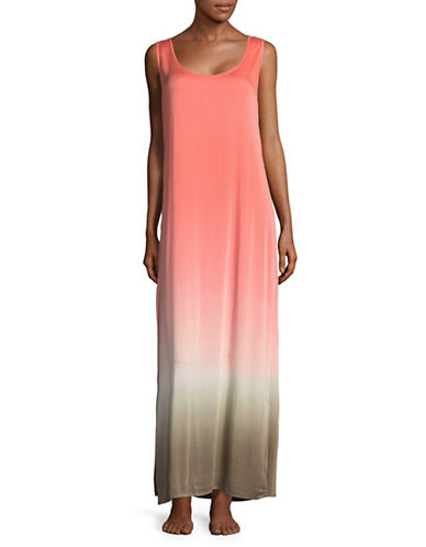 La Blanca Dip-Dye Maxi Cover-Up Dress-CORAL REEF-Medium