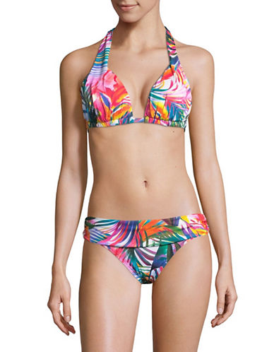 Lauren Ralph Lauren Printed Halter Bikini Top-MULTI-6
