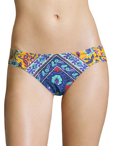 Nanette Lepore Siren Shirred Swim Bottoms-MUTLI-X-Small
