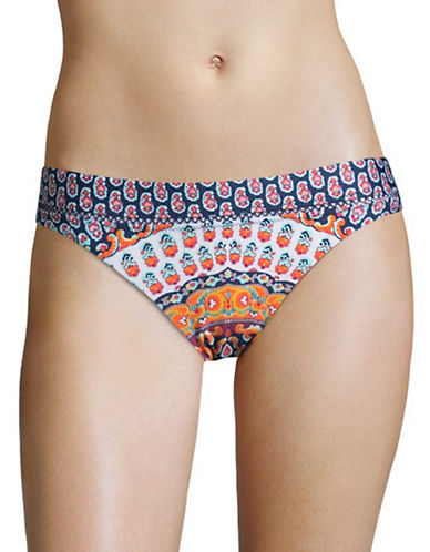 Nanette Lepore Charmer Ladder-Stitch Hipster Swim Bottoms-MULTI-Large
