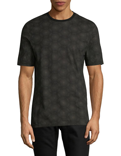 Ben Sherman Pindot-Print Cotton Tee-BLACK-Large