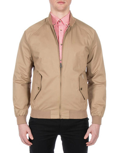Ben Sherman New Core Harrington Cotton Jacket-BEIGE-Medium