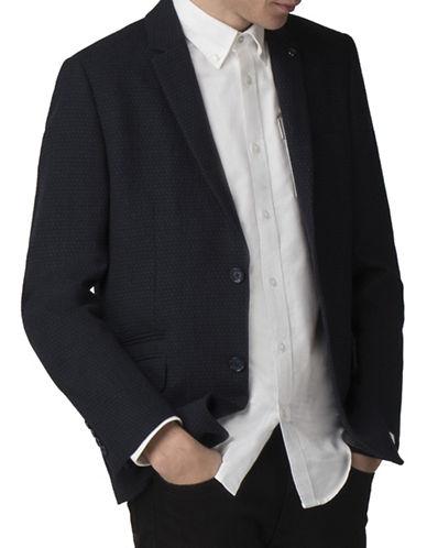 Ben Sherman Dobby Wool-Blend Blazer-BLUE-42X36