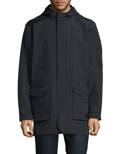 Ben Sherman Hooded Mac Jacket-NAVY-Medium