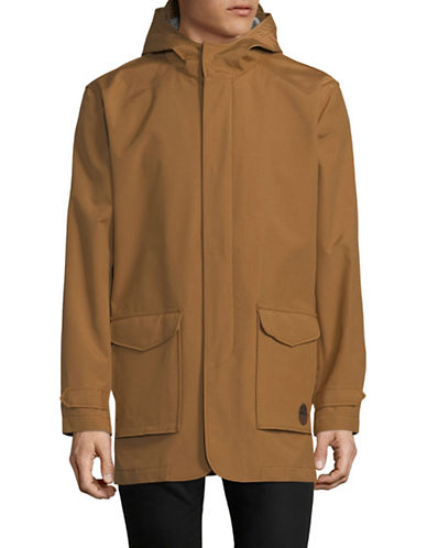 Ben Sherman Hooded Mac Jacket-KHAKI-Small