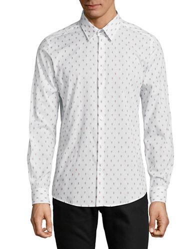 Ben Sherman Long Sleeve Cotton Shirt-WHITE-Small