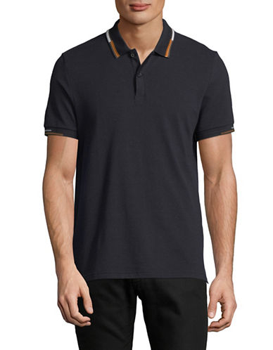 Ben Sherman Cotton Short Sleeve Polo-NAVY-Small
