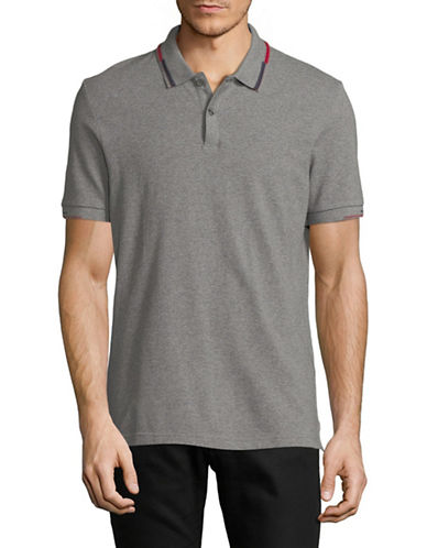 Ben Sherman Cotton Short Sleeve Polo-GREY-Medium