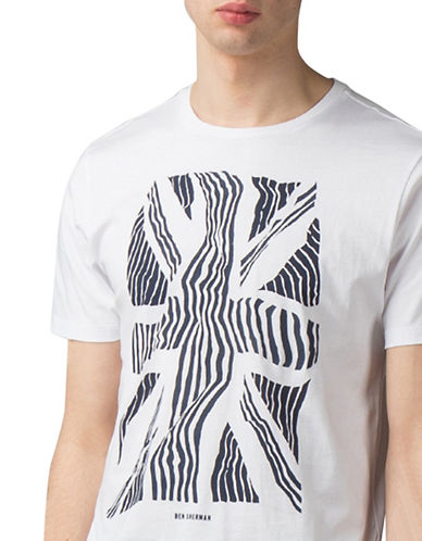 Ben Sherman Union Warp T-Shirt-WHITE-Medium