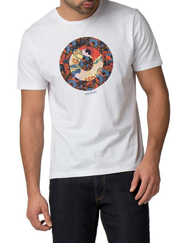 Ben Sherman Hero Target Cotton T-Shirt-WHITE-Large 89958059_WHITE_Large
