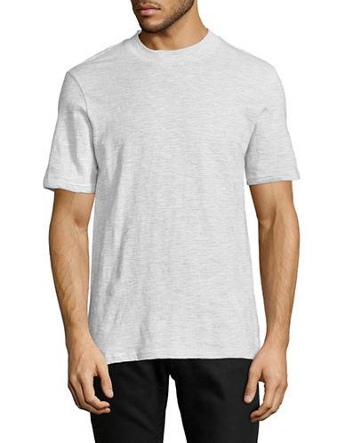 Ben Sherman Jacquard Slub Jersey T-Shirt-WHITE-Large