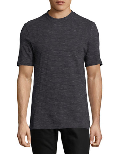 Ben Sherman Jacquard Slub Jersey T-Shirt-NAVY-Medium