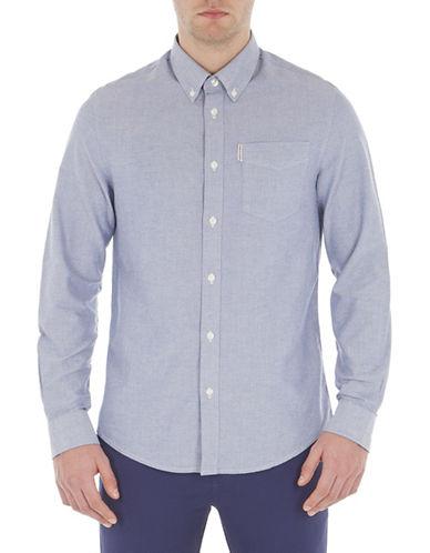 Ben Sherman Long Sleeve Core Oxford Shirt-NAVY-Small