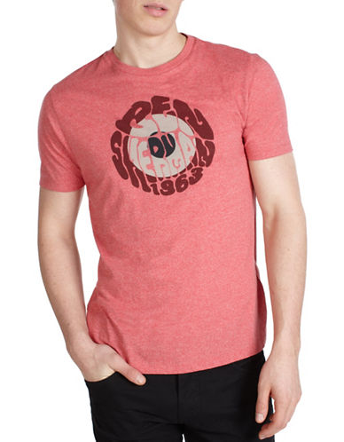 Ben Sherman Experience Round Cotton T-Shirt-PINK-Medium 89848409_PINK_Medium