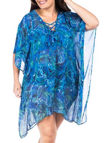 Lauren Ralph Lauren Laced Chiffon Crinkle Tunic 89717062