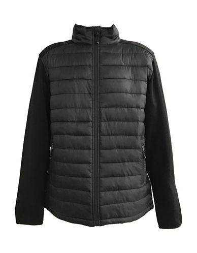 Free Country Hybrid Puffer Jacket-BLACK-Small 89964716_BLACK_Small