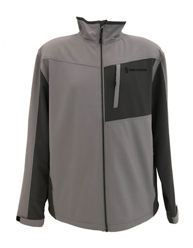 Free Country Colourblocked Soft Shell Jacket-GREY-Large 89964728_GREY_Large