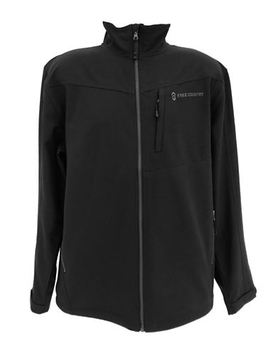 Free Country Lightweight Soft Shell Jacket-BLACK-Medium 89964732_BLACK_Medium