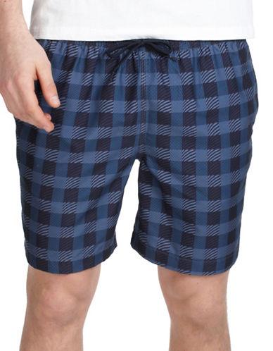 Ben Sherman Volley Chequered Swim Shorts-BLUE-Medium 89848429_BLUE_Medium