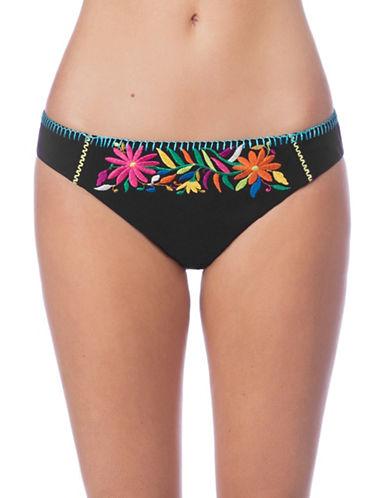 Nanette Lepore Isla Marietas Charmer Bikini Bottoms-BLACK-Small