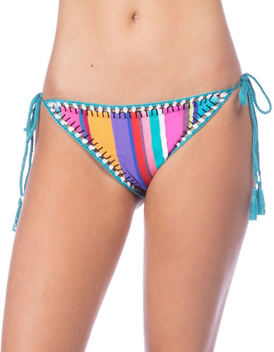 Nanette Lepore Vamp Striped Bikini Bottom-MULTI-X-Small