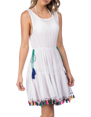 Nanette Lepore Cover-Up Short Dress-WHITE-Small