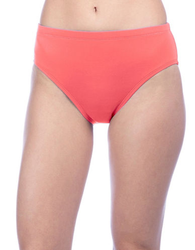 La Blanca Island Goddess High Waist Swim Bottom-CORAL-6