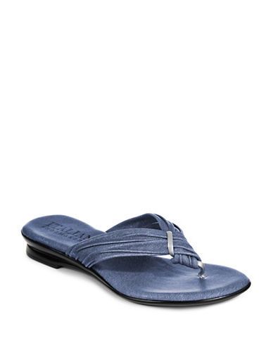 Italian Shoemakers Wishbone Thong Flip Flops-DENIM BLUE-8