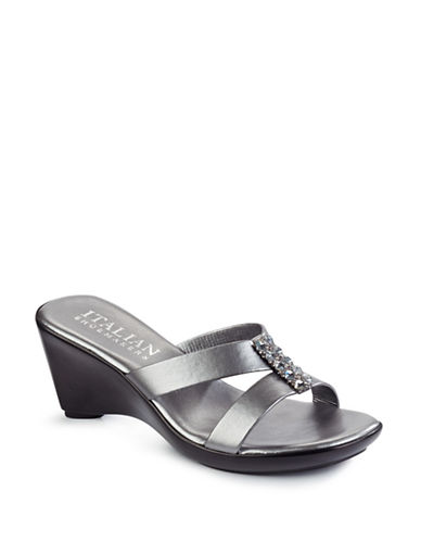 Italian Shoemakers Memphis Sandals-PEWTER-7.5