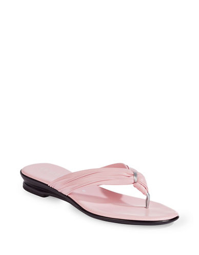 Italian Shoemakers Wishbone Thong Flip Flops-LIGHT PINK-9