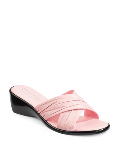Italian Shoemakers Criss-Cross Slides-LIGHT PINK-7