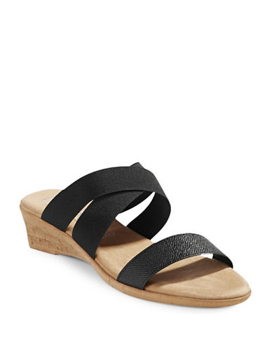 Italian Shoemakers Giamo Wedge Sandals-BLACK-10
