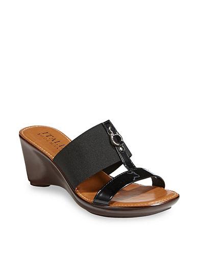 Italian Shoemakers Quiz Wedge Sandal WOMEN BROWN