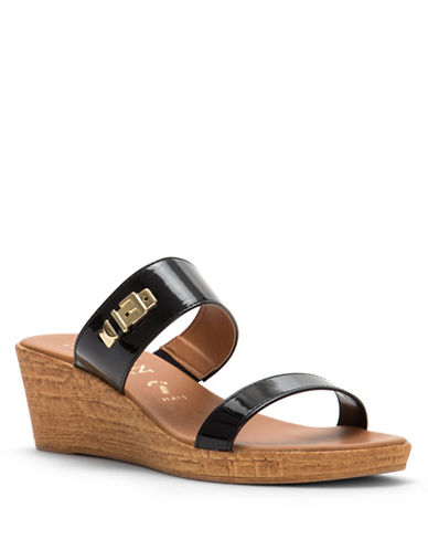 Italian Shoemakers Randy Strappy Wedges-BLACK-9