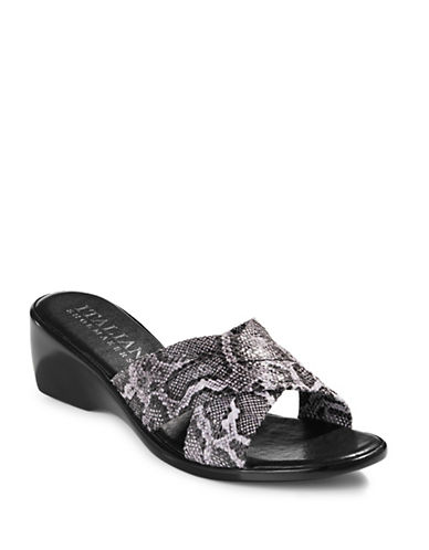 Italian Shoemakers Criss-Cross Slides-SNAKE PRINT-5