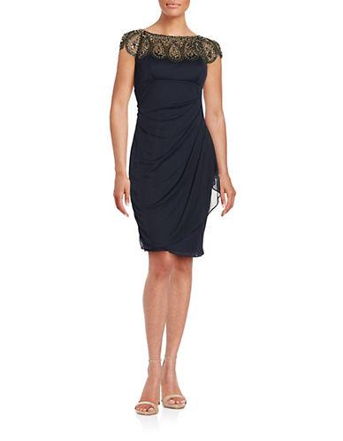 Xscape Embellished Sheath Dress-BLUE-4
