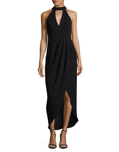 Xscape Choker Sheath Dress-BLACK-8