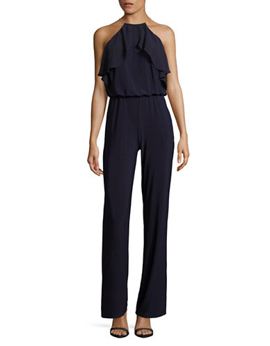 Xscape Chain Halter Jumpsuit-BLUE-12