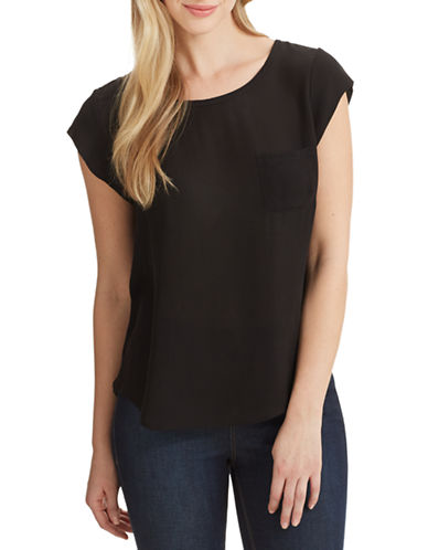 Joie Rancher Silk Tee-BLACK-Medium