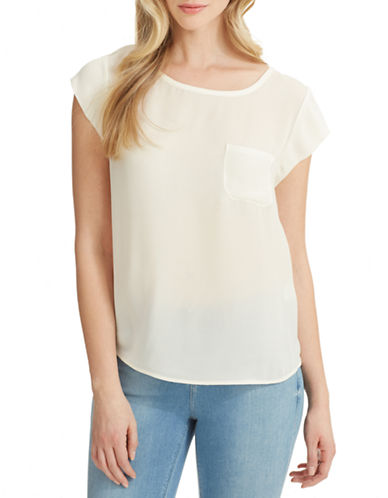 Joie Rancher Silk Tee-WHITE-Small